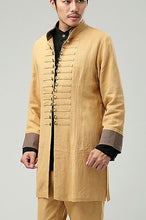 Load image into Gallery viewer, Yellow Commoner Chinese Windbreaker Jacket Cloak
