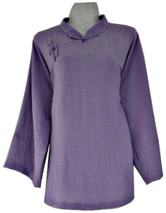Purple Feminin Design Wudang Tai Chi Jacket with Open Sleeves