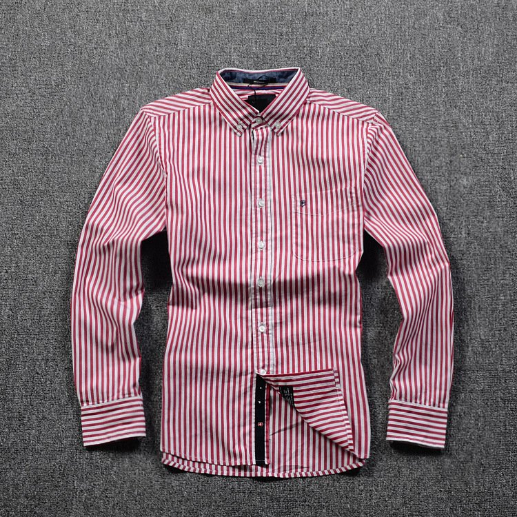 Striped Business Shirt White & Red
