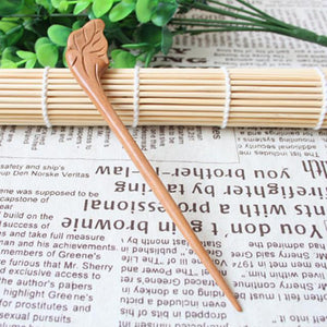 Wudang Taoist Monk Hand Carved Leaf Hairpin