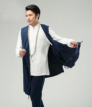 Load image into Gallery viewer, Blue Commoner Chinese Style Men's Vest