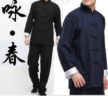 Load image into Gallery viewer, Ip Man Style Wing Chung Kung Fu Suit in 2 Colors with White Cuffs