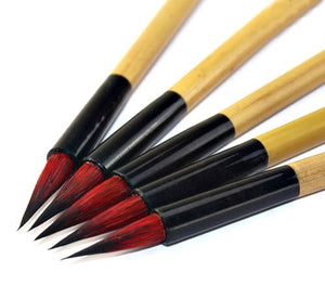 Red Hair Calligraphy Brush