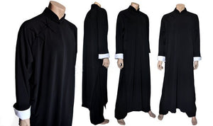 Black Ip Man Style Wing Chung Kung Fu Long Coat for Men