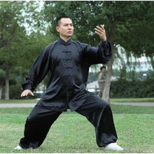 Load image into Gallery viewer, Tai Chi Clothing Silk-like Fabric Black