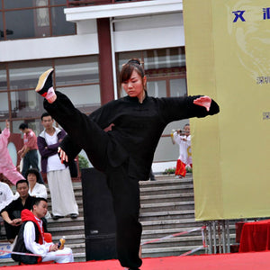 Black Hemp and Linen Wudang Tai Chi Uniform with Open Arms for Men and Women
