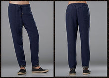 Load image into Gallery viewer, Blue Commoner Wind Cuffs Low-Crotch Carrot Pants