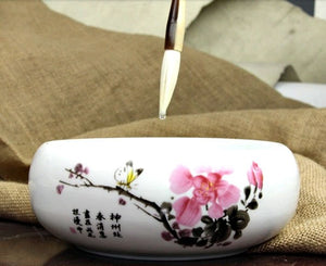 Calligraphy Brush Washing Cup Plum Blossom