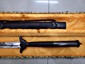Long Hilt Black Wood Kung Fu Jian