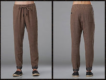 Load image into Gallery viewer, Beige Commoner Wind Cuffs Low-Crotch Carrot Pants