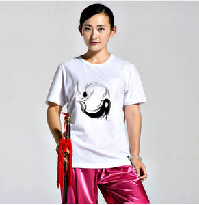 White Yin-Yang Fish T-Shirt for Men and Women
