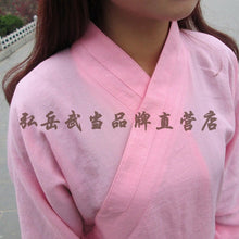 Load image into Gallery viewer, Lavender Silk and Linen Wudang Tai Chi Uniform with Cuffs for Men and Women
