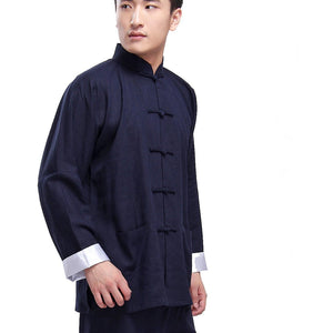 Ip Man Style Wing Chung Kung Fu Suit in 2 Colors with White Cuffs