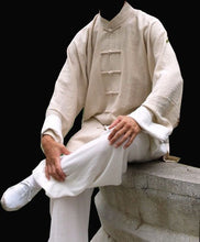 Load image into Gallery viewer, Ip Man Style Wing Chung Kung Fu Suit with White Cuffs