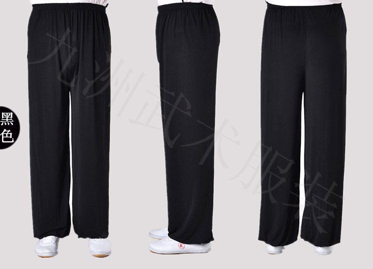 Black Stretchable Tai Chi Pants Unisex