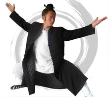 Load image into Gallery viewer, Wudang Long Winter Coat, Black, Navy Blue or White