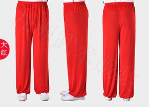 Red Stretchable Tai Chi Pants Unisex