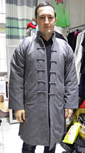 Load image into Gallery viewer, Grey 100% Sheep Wool Long Winter Jacket