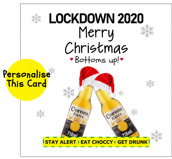 Corona Beer - Bottoms up for Christmas!
