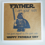 Father's Day Darth Vader Lego Star Wars Card Personalised