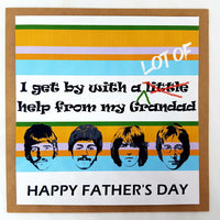 Father's Day Beatles inspired Card Personalised