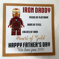 Iron Man Daddy Father's Day Card