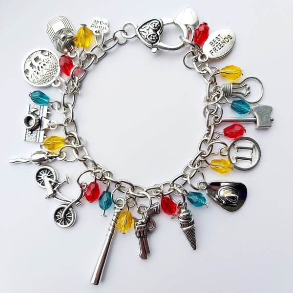 Stranger Things inspired deluxe charm bracelet