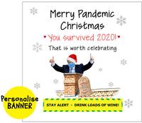 Boris up a chimney - Pandemic Christmas