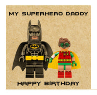 Batman and Robin Happy Birthday Card