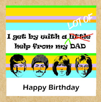 Beatles inspired Happy Birthday Card - a lot of help