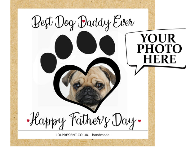 Your own photo doggy card