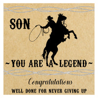 Cowboy Legend Graduation Card - personalised