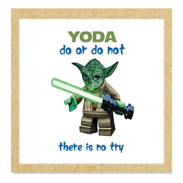 Yoda graduation greetings card, do or do not, there is no try.