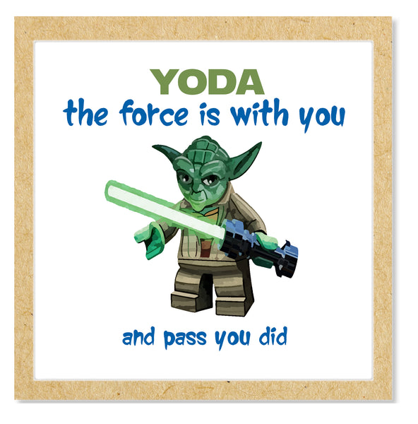 Star Wars Yoda Graduation Pass Card