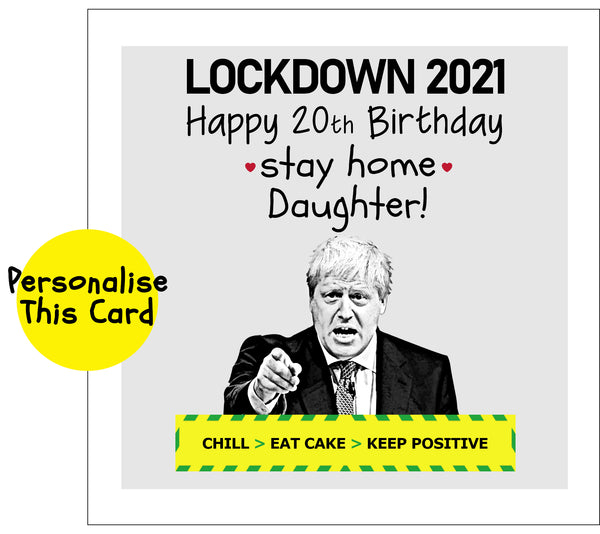 Boris Keep positive in Lockdown