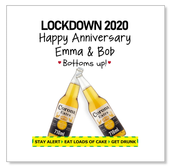 Corona Beer Anniversary Bottoms Up!