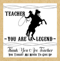 You're a Legend Best Teacher Card