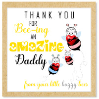 Buzzy Bee Father's Day card (3 children)