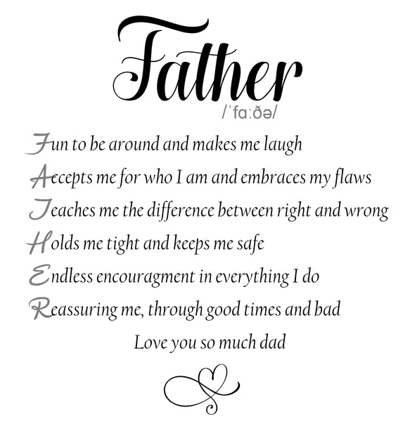 Meaning of Father Sentimental