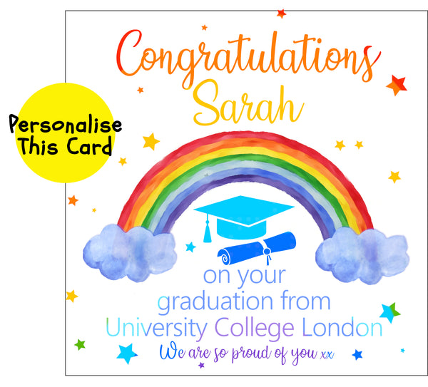 Rainbow graduation, personalised