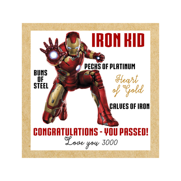 Iron Man Graduation Card