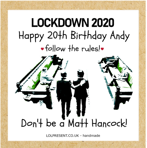 Don't be a Matt Hancock!