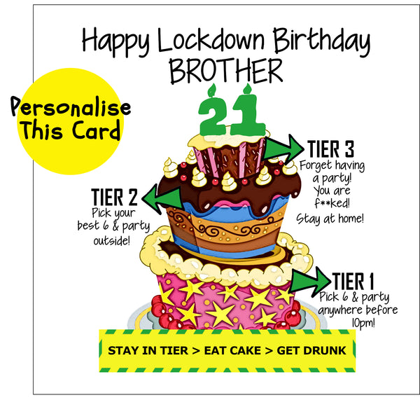 Birthday Lockdown Tier Cake