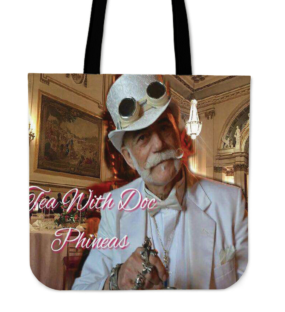 Tea With Doc Phineas Tote Bag