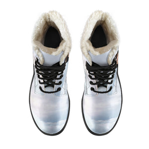 Doc Talk Faux Fur Leather Boots