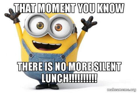 meme about silent lunches