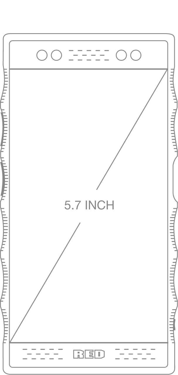 Diagram of HYDROGEN One Display