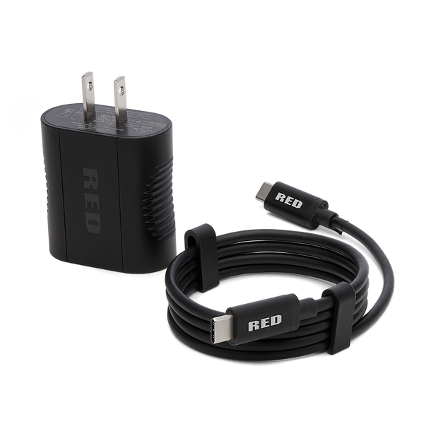 HYDROGEN One USB Type C Power Adapter - RedHydrogen