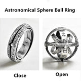 ASTRONOMICAL SPHERE BALL RING