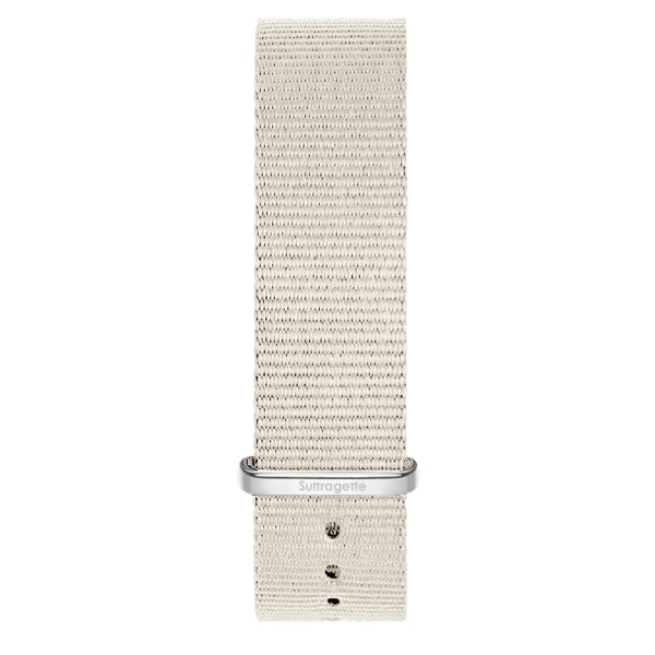 White fabric watch band